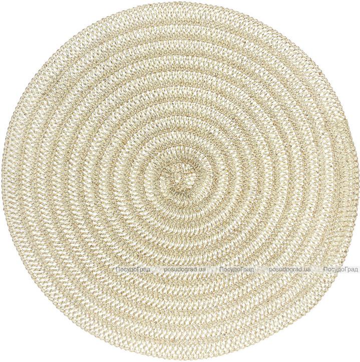 Набір 6 сервірувальних килимків Margrese Ø38см (підтарільники), шампань
