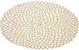 Набор 6 сервировочных ковриков Margrese Golden Openwork Ø38см (подтарельники)