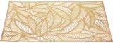 Набір 6 сервірувальних килимків Margrese Ажурне листя 30х44см (підтарільники), золото
