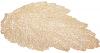 Набор 6 сервировочных ковриков Margrese Ажурный лист36х47см (подтарельники), золото