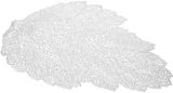 Набор 6 сервировочных ковриков Margrese Ажурный лист36х47см (подтарельники), серебро