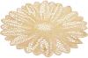 Набір 6 сервірувальних килимків Margrese Ажурна квітка Ø38см (підтарільники), золото