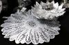 Набор 6 сервировочных ковриков Margrese Ажурный цветокØ38см (подтарельники), серебро