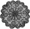 Набір 6 сервірувальних килимків Margrese Мереживо Ø38см (підтарільники), чорний