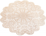 Набір 6 сервірувальних килимків Margrese Мереживо Ø38см (підтарільники), золото