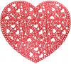 Набір 6 сервірувальних килимків Margrese Серце 38см (підтарільники), червоний