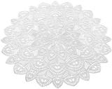 Набір 6 сервірувальних килимків Margrese Хризантема Ø38см (підтарільники), срібло