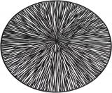 """Набір 6 сервірувальних килимків """"Margrese Промені"""" 38см, чорний (підтарільники)"""
