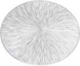 """Набір 6 сервірувальних килимків """"Margrese Промені"""" 38см, срібло (підтарільники)"""