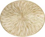 """Набір 6 сервірувальних килимків """"Margrese Промені"""" 38см, золото (підтарільники)"""