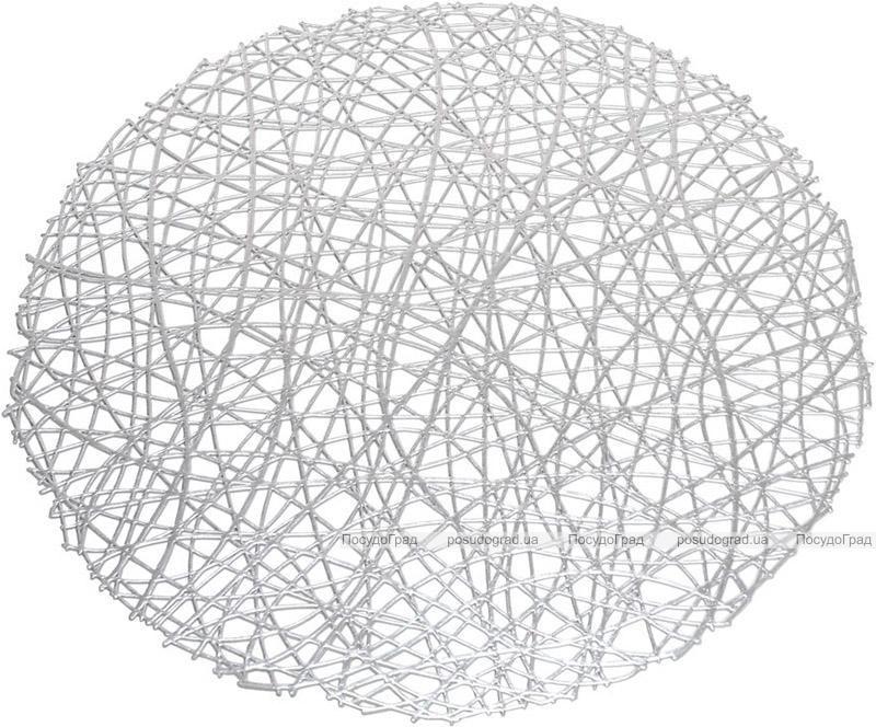 """Набор 6 сервировочных ковриков """"Margrese Модерн"""" 38см, серебро (подтарельники)"""
