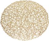 """Набір 6 сервірувальних килимків """"Margrese Модерн"""" 38см, золото (підтарільники)"""