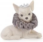 """Декоративная статуэтка """"Собака в короне"""" 12.5см, искусственный камень"""
