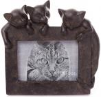 """Фоторамка """"Три кошеня"""" 10х15см, штучний камінь"""