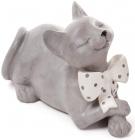 """Статуетка декоративна """"Кіт з бантом"""" 23см, полістоун"""