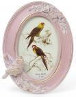 """Фоторамка Tudor """"Птицы"""" для фото 10х15см (розовый с золотом) овальная"""