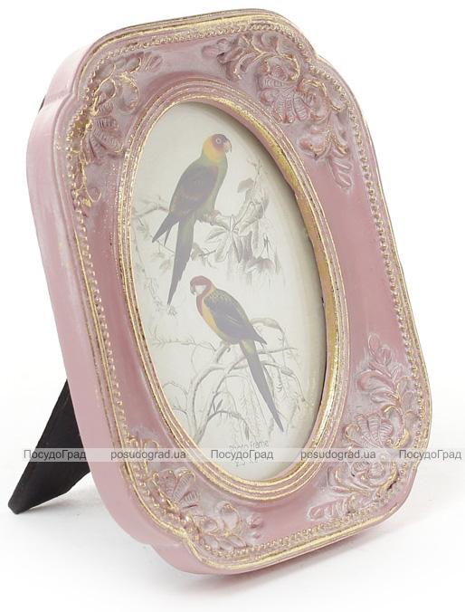 """Фоторамка Tudor """"Орнамент"""" фото 6.4х9см (розовый с золотом)"""