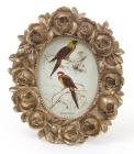 """Фоторамка Tudor """"Троянди"""" овальна, фото 6.4х9см (кольори зістареного золота)"""