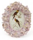 """Фоторамка Tudor """"Розы"""" овальная, фото 6.4х9см (розовый с золотом)"""