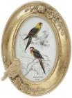 """Фоторамка Tudor """"Птахи"""" овальна, фото 10х15см (кольори зістареного золота)"""