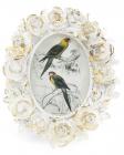 """Фоторамка Tudor """"Троянди"""" овальна, фото 7х9см (білий із золотом)"""