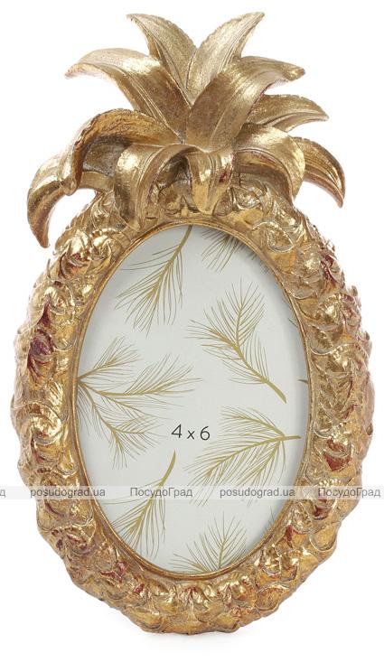 """Фоторамка Tudor """"Ананас"""" овальна, фото 10х15см (кольори зістареного золота)"""