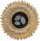 """Фоторамка """"Золотая астра"""" для фото 10х10см, состаренное золото"""