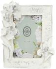 """Фоторамка Tudor """"Орхидея"""" для фото 10х15см, белый антик"""
