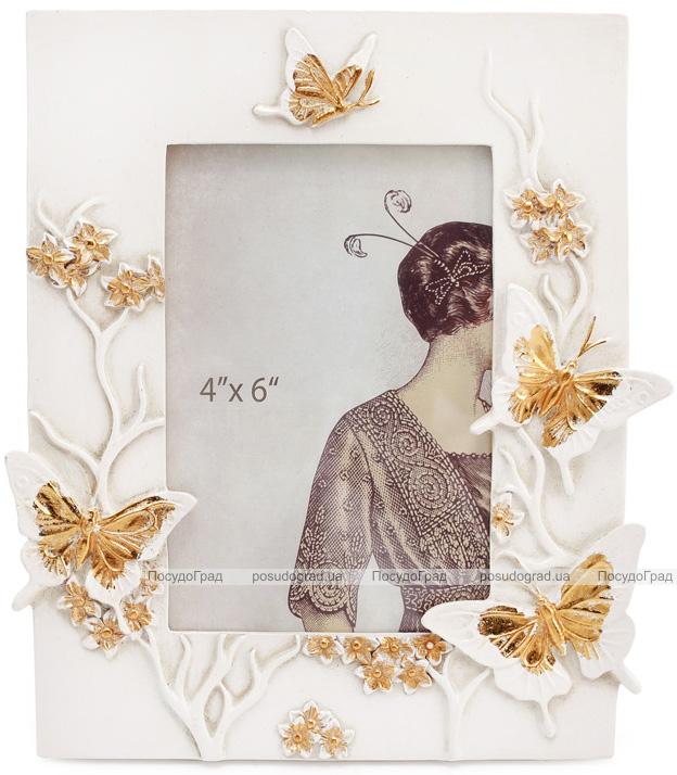 "Фоторамка ""Золотые бабочки"" для фото 10х15см"