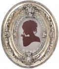 """Фоторамка """"Елізабет"""" 12х2.8х14.5см, античне срібло із золотою патиною"""