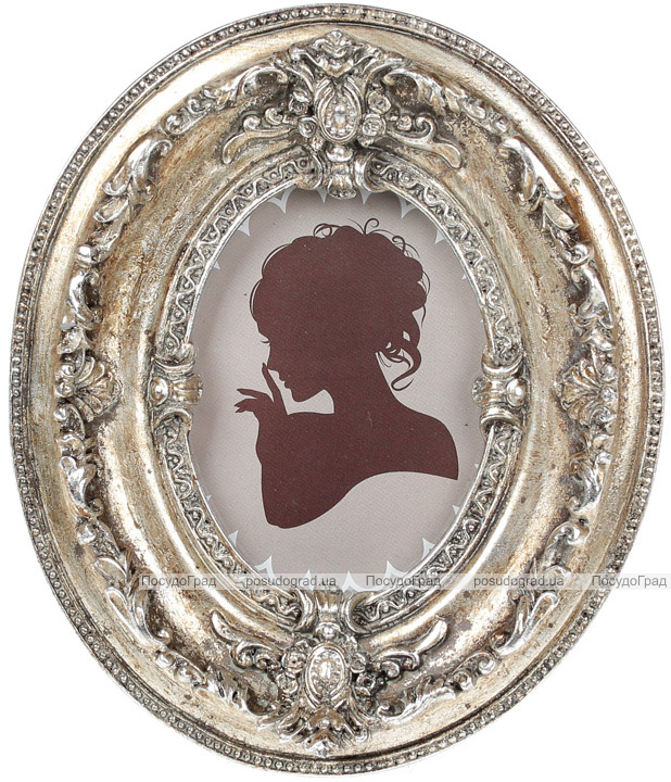 """Фоторамка """"Элизабет"""" 12х2.8х14.5см, античное серебро с золотой патиной"""