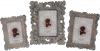 Фоторамка Шебби Шик прямоугольная для фото 13х18см полистоун, золото антик