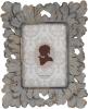 Фоторамка Шеббі Шик прямокутна для фото 13х18см полистоун, золото антик