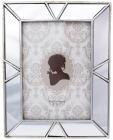 Фоторамка Mirror для фото 13х18см полистоун, с зеркальными вставками