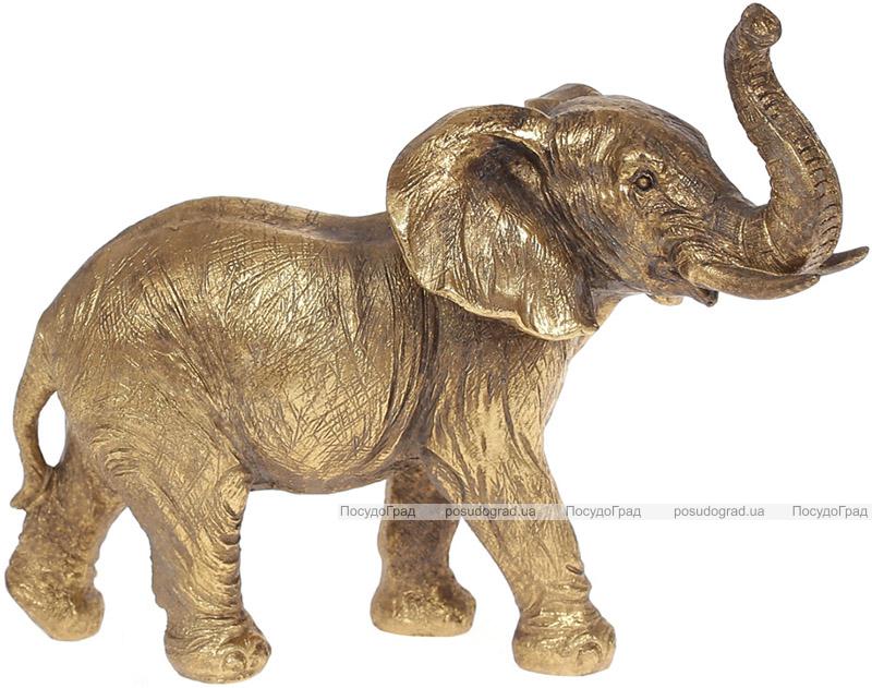 """Декоративная статуэтка """"Слон"""" 18х14.5см, бронза"""