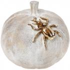 """Декоративна фігура """"Гарбуз"""" 16.5х16х15.5см, колір - фактурне дерево з золотом"""