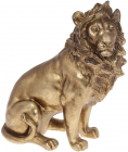 """Декоративна статуетка """"Цар Звірів"""" 23.2х12х27см, полістоун, золото"""