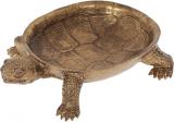 "Декоративное блюдо ""Черепаха"" 16.5х5х23см полистоун, состаренное золото"