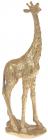 """Декоративная статуэтка """"Жираф"""" 12.5х8.2х35.5см полистоун, золото"""