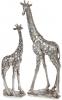 """Декоративная статуэтка """"Жираф"""" 12.5х8.2х35.5см полистоун, стальной"""