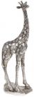 """Декоративна статуетка """"Жираф"""" 12.5х8.2х35.5см полістоун, сталевий"""