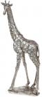 """Декоративна фігура """"Жираф"""" 23.5х10.2х47.5см полістоун, сталевий"""