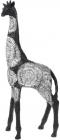 """Декоративная фигура """"Жираф"""" 22х10.5х51см полистоун, черный с серебром"""