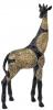 """Декоративная фигура """"Жираф"""" 19х9.5х41см полистоун, черный с золотом"""
