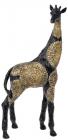 """Декоративна фігура """"Жираф"""" 19х9.5х41см полистоун, чорний з золотом"""