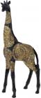 """Декоративна фігура """"Жираф"""" 22х10.5х51см полистоун, чорний з золотом"""