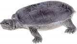 """Декоративне блюдо """"Черепаха"""" 16.5х5х23.2см полистоун, срібло"""