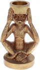 """Підсвічник декоративний """"Giorgi Мавпа"""" 11х8.5х17см, полистоун, колір золотий"""
