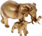 "Декоративная статуэтка ""Слоны"" 17х12.5х29см полистоун, бронза"