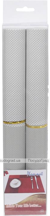 Набор 2 сервировочных коврика Wangelis Silver Elegance 30х45см, полиэстер